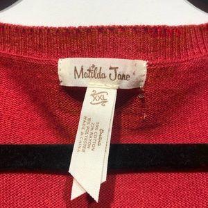 Matilda Jane Sweaters - Matilda Jane Love Me Tender Red Sweater Size XXL